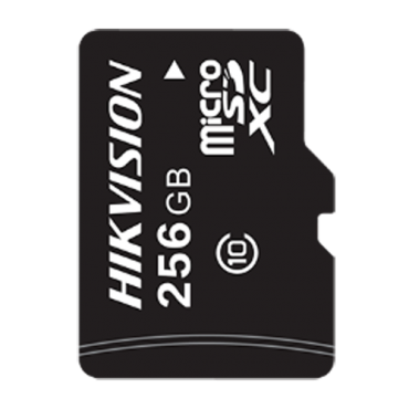 HS-TF-L2I-256G: Hikvision Memory Card - 256GB Capacity - Class 10 U1 - To 500 writing cycles - FAT32 - Special for video-surveillance and CCTV in general