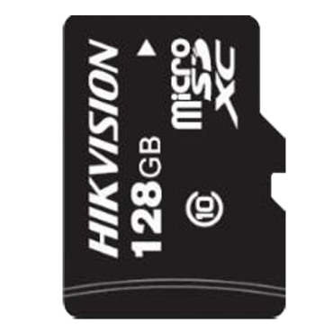 HS-TF-P1STD-128G: Hikvision Memory Card - Capacity 128 GB - Class 10 U1 / FAT32 - To 500 writing cycles - Special for video-surveillance and CCTV in general - Long life span