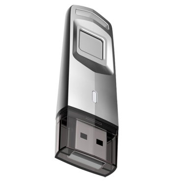 HS-USB-M200F-64G: Hikvision fingerprint USB Drive - Capacity 64 GB - Interface 3.0 - Comfortable design - Up to 10 fingerprints - Encrypt your files with your fingerprint