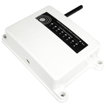 IB-SH-REC-2: Solar infrared barrier receiver - 2 wireless inputs - 2 wired outputs - Up to 6 devices per input - Dip Switch configuration