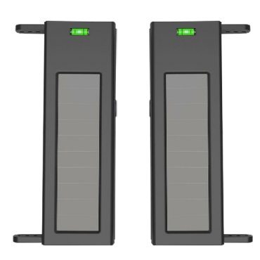 IBS-SH-60-2: Solar infrared barrier detector - Completely wireless | 2 beams - Signal range up to 1000m - Max distance. 60m of detection - Automatic regulation against interference - Power 3.3V internal battery