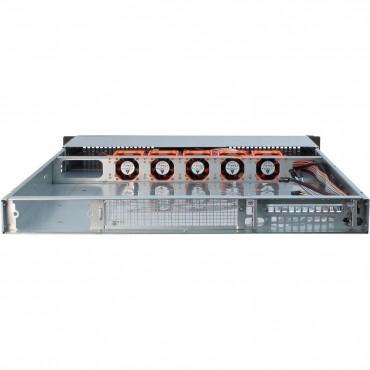 """IPC-1U-10265: 19"""" Server Case - black - 1U - form factor Mini ITX, mATX, μATX, ATX, eATX, SSI EEB - Dimensions (h/w/d) 44.5 x 482 x 678mm"""