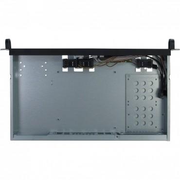 """IPC-1U-K-125L: 19"""" Server Case - black - 1U - form factor Mini ITX - Dimensions (h/w/d) 44.5 x 482 x 278mm"""