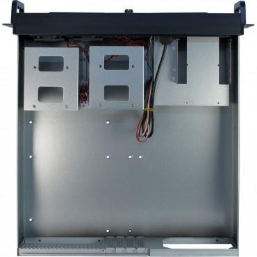 """IPC-2U-2098-SK: 19"""" Server Case - black - 2U - for Mini ITX, μATX - Dimensions (h/w/d) 89 x 485 x 505mm"""