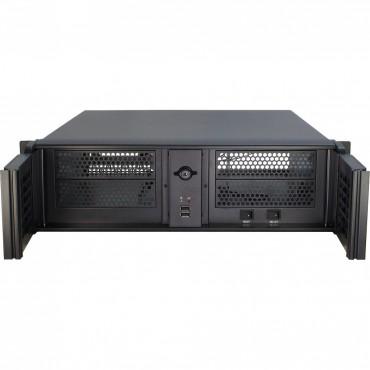 """IPC-3U-3098-S: 19"""" Server Case - black - 3U - for Mini ITX, mATX, μATX, ATX - Dimensions 133 x 485 x 530mm"""