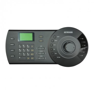 KB1000N : Keyboard for control of DVR, NVR and speed domes, RS232, RS422, RS485, USB and Net
