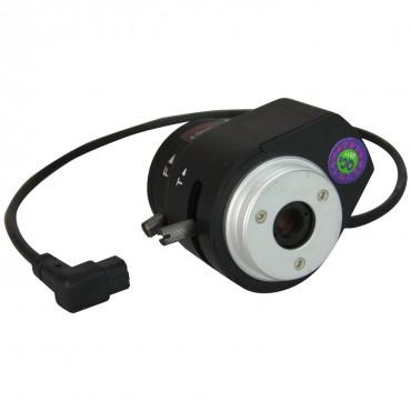 "LN02-12DC : 2.8-12 mm Varifocal - 1/3"" - F1.4 - Direct Drive Iris (DC) - CS screw - Suitable for use with IR (IR correction)"