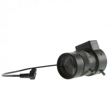"LN05-100DC : 5-100 mm Varifocal - 1/3"" - F1.6 - Direct Drive Iris (DC) - CS screw - Suitable for use with IR (IR correction) - 1.3 Mega Pixel Quality"