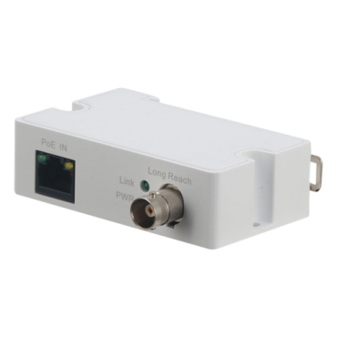 LR1002-1EC: Branded EoC extender - Ethernet over coaxial cable - Passive | Specific ePoE - Emitter compatible with range LR1002 - Allows transmission 1 IP channel - Maximum distance 1.000 m