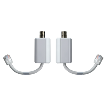 LR1002: Branded EoC extender - Ethernet over coaxial cable - Passive | Specific ePoE - Transmitter & receiver - Allows transmission 1 IP channel - Maximum distance 400 m