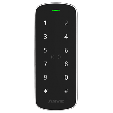 M3-MIFARE-EM: ANVIZ standalone reader - Keypad and Dual card (EM & MIFARE) - 2000 recordings / 50000 records - TCP/IP, RS485, miniUSB, Wiegand - Integrated controller - Vandal-proof, for exterior use