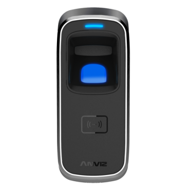 M5PLUS-MIFARE: ANVIZ autonomous biometric reader - Fingerprints and Mifare - 3.000 recordings / 50.000 records - TCP/IP, RS485, miniUSB, Wiegand 26 - Integrated controller - Suitable for outdoor use - anti-vandal