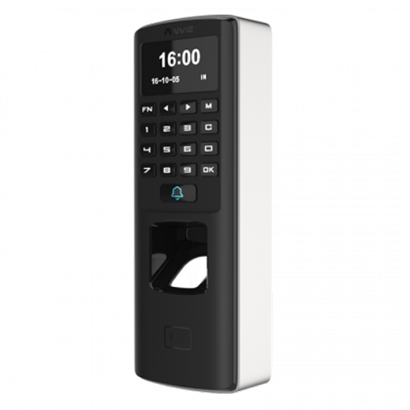 M7: ANVIZ autonomous biometric reader - Fingerprints, RFID and keyboard - 3000 recordings / 50000 records - TCP/IP, RS485, miniUSB, Wiegand 26 - Integrated controller | Time & Attendance - Suitable for outdoor use, anti-vandal protection.
