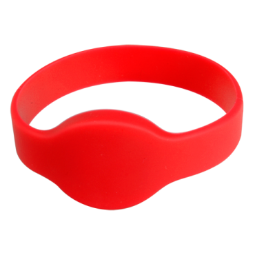 VT-MIFARE-BAND-R: Proximity bracelet - Identification by radio-frequency - Passive RFID Mifare - Frequency 13.56 mHz - Red - Maximum security