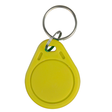 VT-MIFARE-TAG-Y: Keyring proximity tag - Identification by radio-frequency - Passive MIFARE | Yellow color - Frequency 13.56 MHz - Light & portable - Maximum security