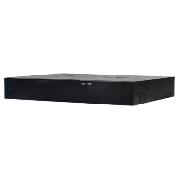 NVR8432-4K-FACE: NVR with Face Recognition - 32 CH video - Max resolution 12 Mpx | Compression H.265+ - Processing up to 20 faces/second - Facial recognition in up to 32 channels - Comparison with even 10.000 images - Compatible with KIT-PANDA-BLACKBODY