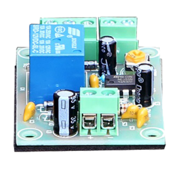 PCB-505: Relay module - Set a delay up to 30 seconds - Push button input - Little size - Suitable for all types of doors - 12VDC power