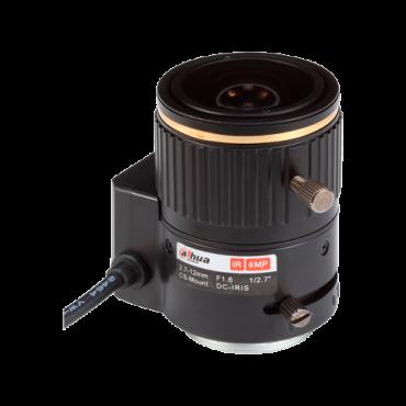 "PFL2712-E6D: Lens with CS thread - Quality 6.0 Mpix - AutoIris Direct Drive (DC) - Varifocal: 2.7 to 12 mm - 1/2.7"" / F1.6 - IR correction"