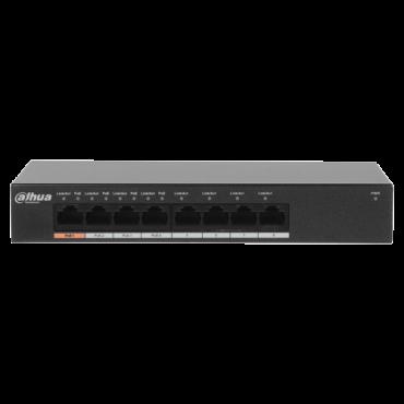 PFS3008-8GT-60: Branded PoE Switch - 8 GigaBit ports (4 PoE ports) - Speed 10/100/1000Mbps - 60W port 1 (Hi-PoE)/ 30W port 2-4 (PoE+/PoE) - MAC auto learning, Capacity up to 8K in Mac addresses - Hi-PoE / IEEE802.3at (PoE+) / af (PoE+)