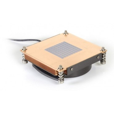 R-18: Aluminum 80x80x15mm blower with PWM function, Copper heatsink up to 95 Watts for 1U server solution