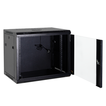 """VT-RACK-4U : Rack cabinet for wall, Up to 4U rack of 19"""", Up to 60 kg load, With ventilation and cable passage, Fan included, Multiple connector of 6 power points included"""