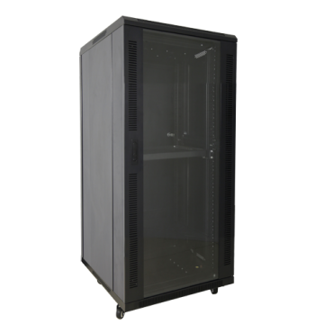 """VT-RACK-F18UN: Rack floor cabinet - Up to 18U rack of 19"""" - Up to 800 kg load - With ventilation and cable passage - 2 fans and 2 trays included - Multiple connector of 6 power points included"""