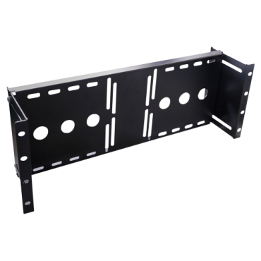 """VT-RACK-VESA: VESA bracket for rack installation - Compatible with VESA bracket between 75~700 mm - Valid for any LCD monitor up to 20"""" - Side wings for racking - Metal - Black colour"""