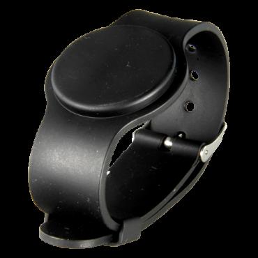VT-RFID-BAND-ADJ-BK: Proximity bracelet - Identification by radio-frequency - Passive RFID EM | maximum security - Frequency 125 KHz - Black colour - Adjustable strap