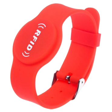 VT-RFID-BAND-ADJ-R: Proximity bracelet - Identification by radio-frequency - Passive RFID EM | maximum security - Frequency 125 KHz - Red - Adjustable strap