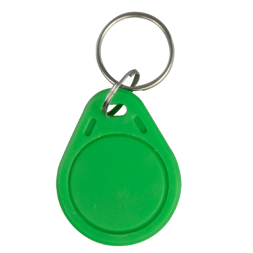 VT-MIFARE-TAG-G: Keyring proximity tag - Identification by radio-frequency - Passive MIFARE | Green color - Frequency 13.56 MHz - Light & portable - Maximum security