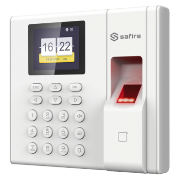 SF-AC3003KEMD-IP: Access and Attendance control - Fingerprint, EM Card and PIN - 3.000 recordings / 100.000 records - TCP/IP, USB, Time and Attendance Modes - Integrated controller (Relay and doorbell) - Software Safire Control Center AC