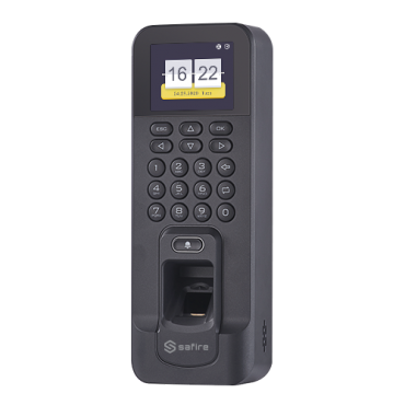 SF-AC3011KEMD-IP: Access and Attendance control - Fingerprints, keyboard and EM card - 3.000 recordings / 100.000 records - TCP/IP, MiniUSB, RS485, Wiegand and Relay - Integrated controller - Safire Control Center-software