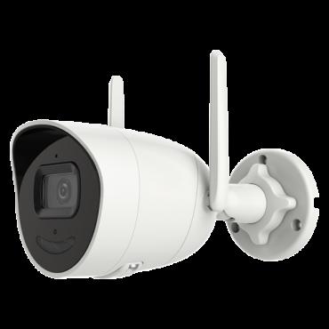 "SF-IPB025WHA-2PW-AI: 2 MP IP Camera - 1/2.8"" Progressive Scan CMOS - H.265 / H.264, Audio - 2.8 mm lens   WDR - Wi-Fi IEEE802.11 b/g/n - Truesense: False alarm filter"