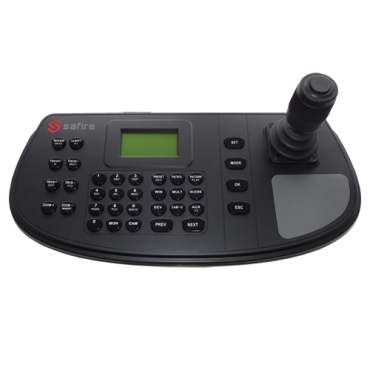SF-KB1200: Safire network connected control keyboard - Double interface: direct or network - LCD screen - IP network with connector RJ45 - Joystick 4 axis - Save images locally via USB