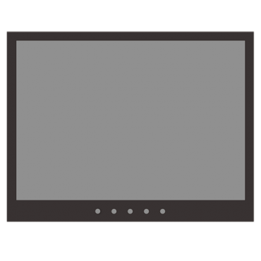 """SF-MNT10BNC-XGA: Monitor SAFIRE LED 10"""" - Designed for surveillance use - Format 4:3 - VGA, HDMI, BNC loop and Audio - Resolution 1024x768 - Integrated speakers"""