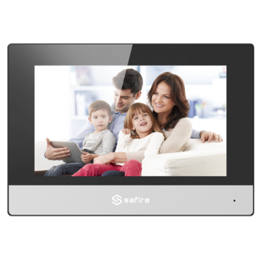 "SF-VIDISP01-7IP: Video Intercom Monitor - 7"" TFT Screen - Bidirectional audio - TCP / IP, SIP - MicroSD card slot up to 32GB - Surface mounting"