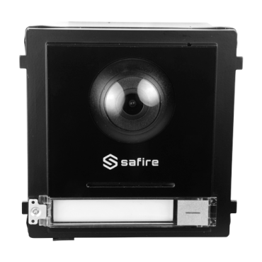 SF-VIMOD-CAM-2: 2- wires Safire Video Intercom - Camera 2Mpx - Bidirectional audio - Mobile App for remote monitoring - Suitable for exterior IP65 - Modular