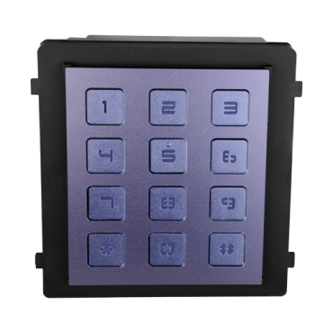 SF-VIMOD-KPAD: Safire Extension Module - Call different monitors - Door opening with code - LED illuminated keypad - Suitable for exterior IP65 - Modular