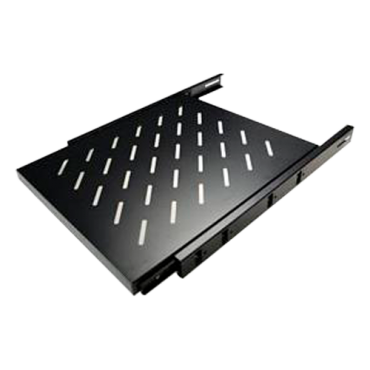 VT-SHELF-SLIDE-450: Rack Tray - Sliding - Maximum dimension 280 mm x 450 mm - Side fixings - Ventilation slots