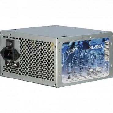 SL-500: Power Supply - 500W - ATX version - 3x S-ATA - 1x Mainboard 20+4Pin - 4+4 connectors - Noise Level 19-25dB