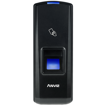 T5: ANVIZ biometric reader - Fingerprints & RFID - 1000 recordings / 50000 records - TCP/IP, RS485, miniUSB, Wiegand 26 - No controller incorporated - Suitable for indoor use