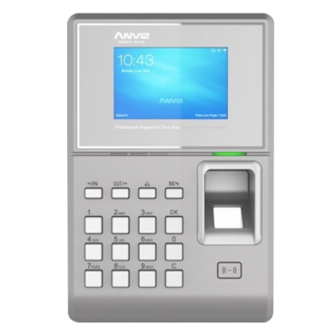 TC580: PoE Time & Attendance and Access control - Fingerprints, RFID EM and keyboard - 10.000 recordings / 200.000 records - WiFi, TCP/IP, USB, integrated controller - 8 Time & Attendance control modes - CrossChex and Anviz Cloud software