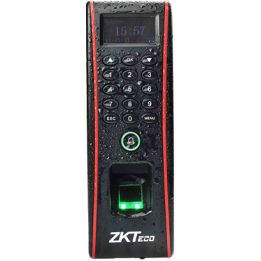 ZK-TF1700 : Access and Attendance control - Fingerprints, EM RFID card and keyboard - 3.000 recordings / 50.000 records - TCP/IP, MiniUSB, RS485, Wiegand and Relay - Suitable for exterior IP65 - ZKAccess Software 3.5 | ZkTimeNet 3.0