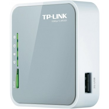 TL-MR3020 : TP-LINK, Portable Wifi Router 3G/4G, Ethernet Connections, USB, 3G/4G USB Sticks & WiFi, Can be connected to an IP device, 150 Mbps max
