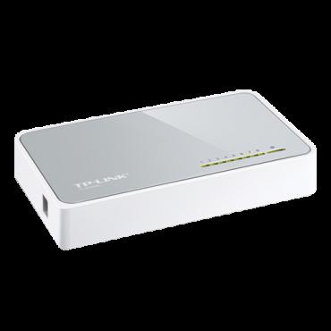 TL-SF1008D : TP-LINK, Desktop Switch, 8 ports RJ45, Speed 10/100Mbps, Plug & Play, Power saving technology