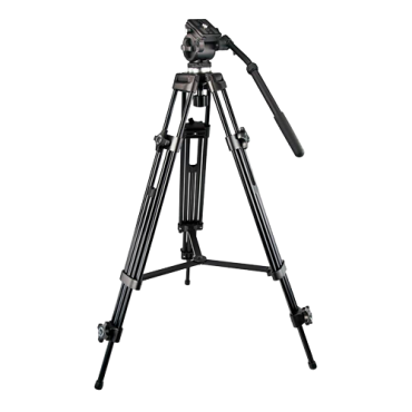 TRIPOD-2M: Professional Tripod - Extendable up to 189cm - Valid for exterior use - Black colour - Compatible with Thermographic Cameras and DS-2909ZJ - Central stabilizing bar