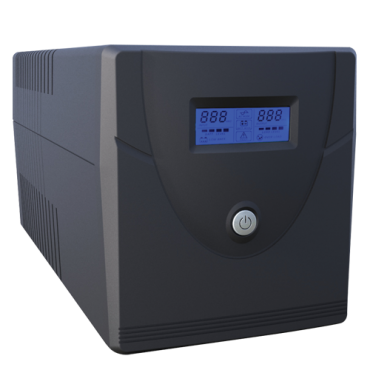 UPS1000VA-4: Single-phase Line Interactive UPS - Power 1000VA/600W - Input 220~240VAC / Output 230 VAC - 4 surge protected outputs - Recharge time 6~8 h - 2 sealed lead-acid batteries