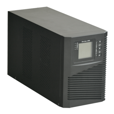 UPS1000VA-ON-4: UPS online - Power 1000VA/900W - Input 200~240 Vac / Output 200~240 Vac - 2 surge protected outputs - Recharge time 4~5 h - 2 sealed lead-acid batteries
