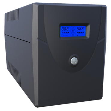 UPS1500VA-4: Single-phase Line Interactive UPS - Power 1500VA/900W - Input 220~240VAC / Output 230 VAC - 4 surge protected outputs - Recharge time 6~8 h - 2 sealed lead-acid batteries