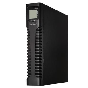 UPS2000VA-ON-2-RACK: Online UPS for rack or tower installation - Power 2000VA/1800W - 2 surge protected outputs - Recharge time 5h 90% - Hot swappable - 4 sealed lead-acid batteries